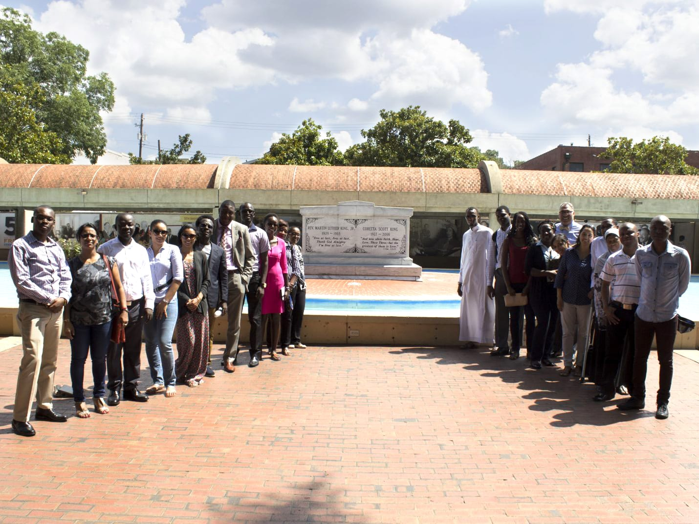 Mandela Washington Fellows tour the Martin Luther King, Jr. Center as part of the Young African Leaders Initiative