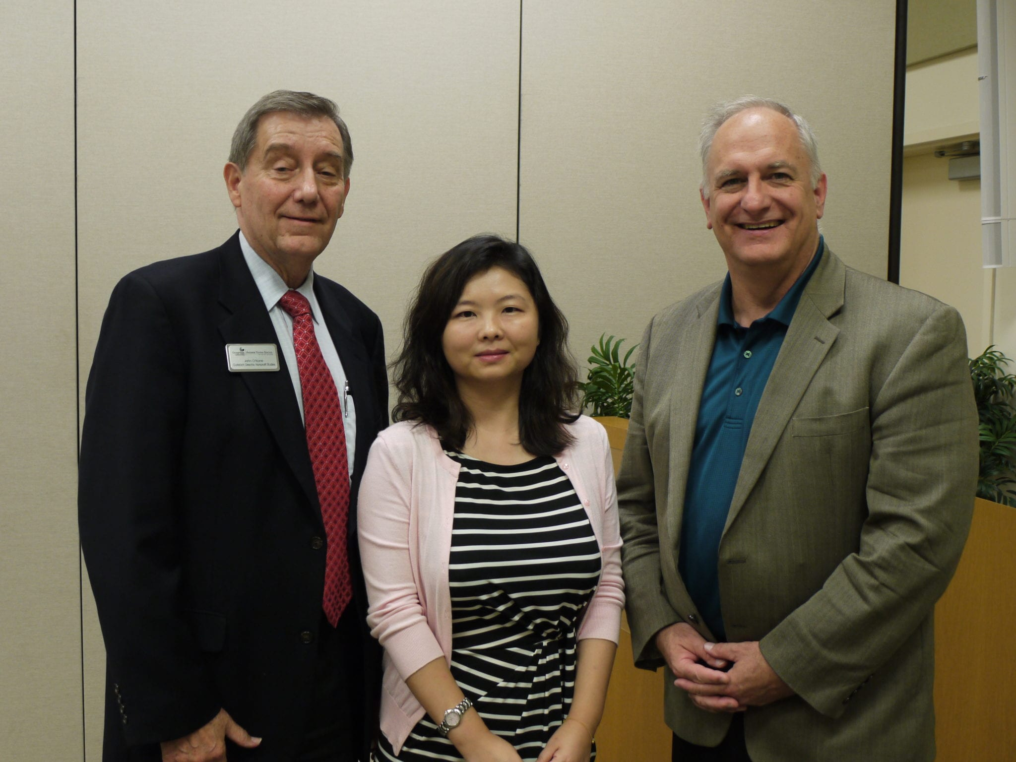 John O'Kane, Cathy Yang Liu and to John Tyler of the Ewing Marion Kauffman Foundation