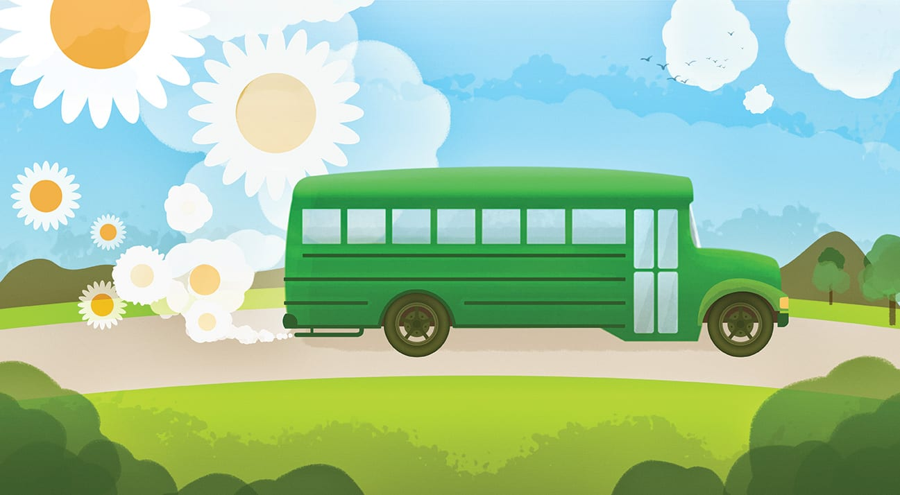 green school bus environment eco
