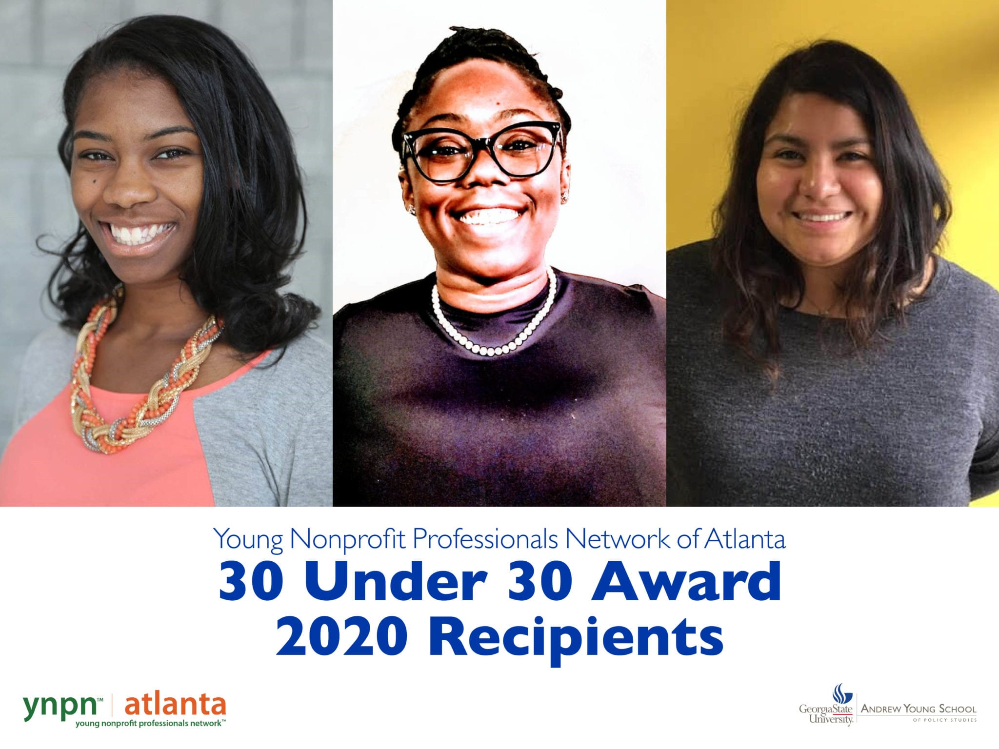2020 Young Nonprofit Professionals 30 Under 30 Recipients from the Andrew Young School