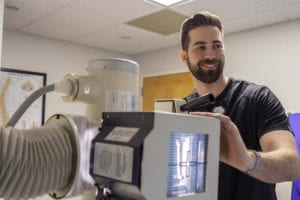 Perimeter College Radiologic Tech grad Joseph Dunagan now works at an Atlanta-area spine clinic.