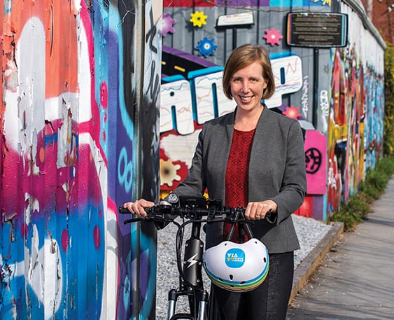 Rebecca Serna (M.S. '07) is executive director of the Atlanta Bicycle Coalition.