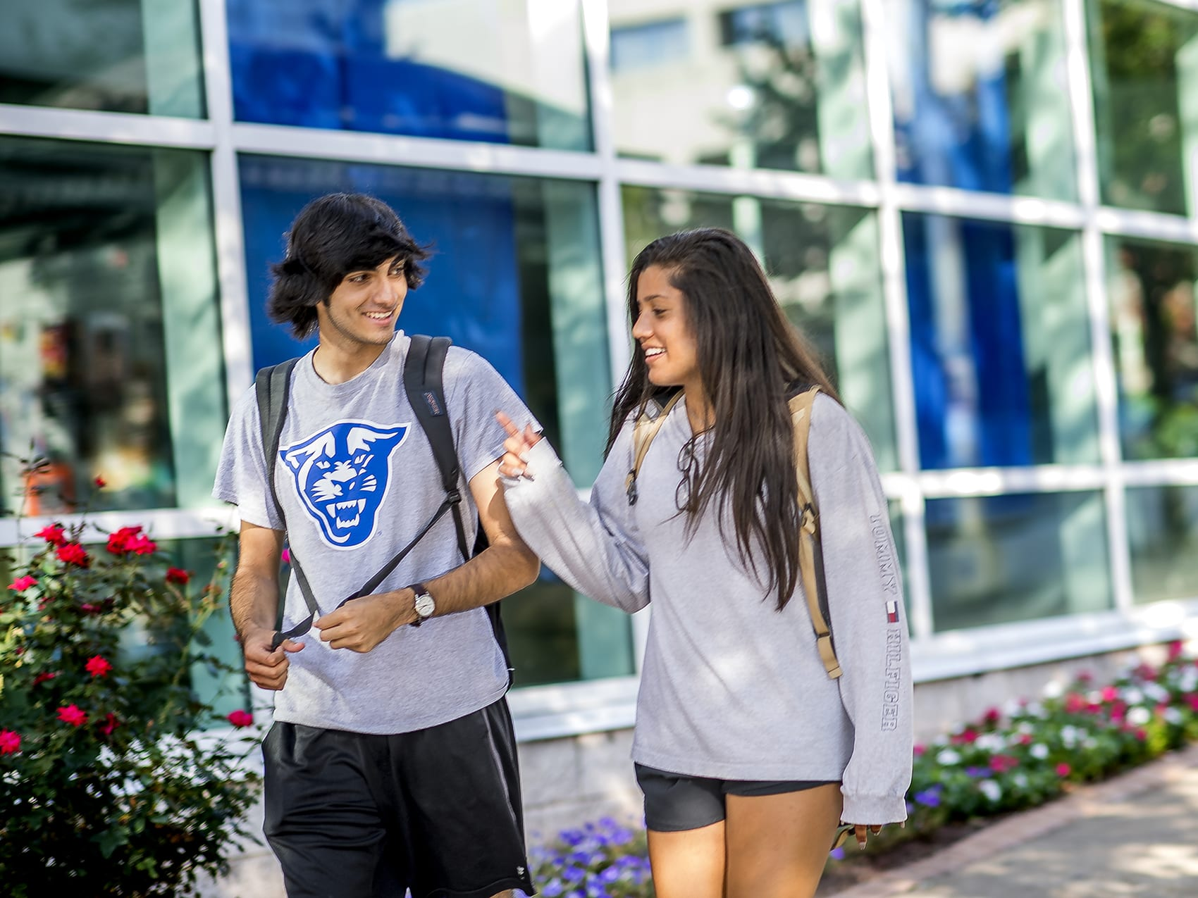 Students on campus at Georgia State University