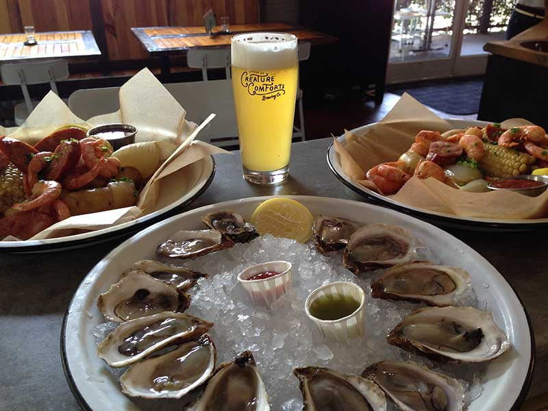 Oysters are a staple at Revell's restaurant Seabear.